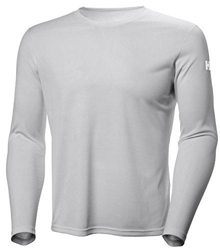 Helly Hansen HH Tech Crew Camiseta Deportiva Manga Larga, Hombre, Gris (Light Grey), M