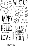 Happy love Transparent Clear Silicone Rubber Stamp Seal DIY Scrapbooking photo Album A0703