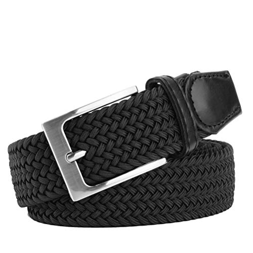 WONDAY Elastic Brdided Belt-Fabric Woven Belt-Stretch Casual Belt for Men and Women