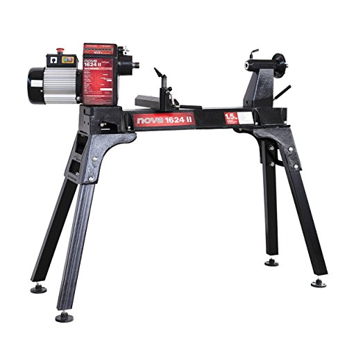 NOVA 1624 II 16 x 24' 8 Speed Wood Lathe, Black (SKU 24221)