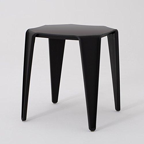CJH Scandinavische moderne minimalistische woonkamer salontafel kant een paar polygoon hoeken balkon ontwerper salontafel kruk zwart