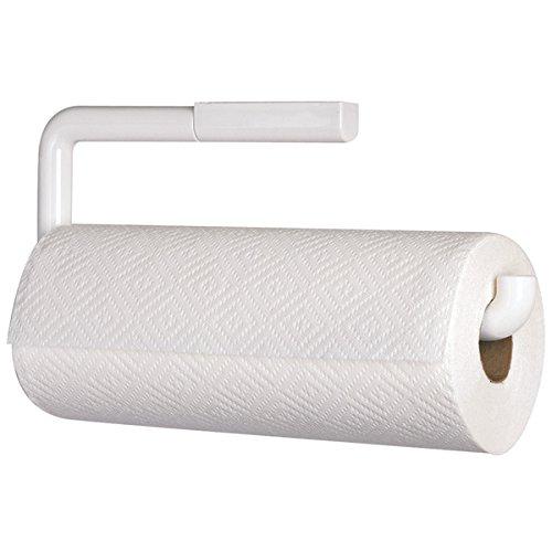 mDesign Küchenrollenhalter Wand - praktischer Halter für Papierrollen in Küche oder Bad - Küchenpapier Aufbewahrung zur Wandmontage - weiß