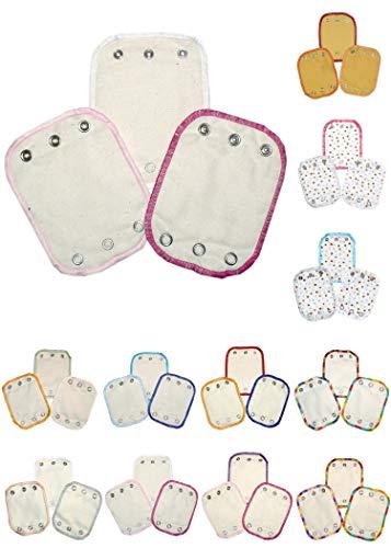 Universal Bodyverlängerungen 3er Pack aus Bio-Baumwolle (Natur, Weiß/Rosa/Pink)