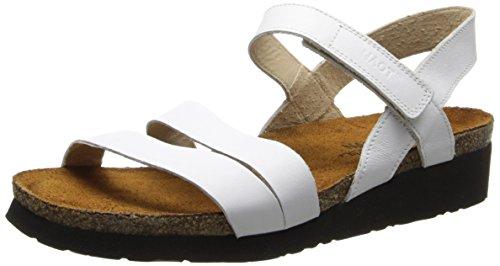 Naot Women's Kayla, White Leather, 43 M EU / 12-12.5 B (M) US