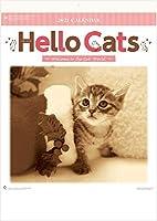 カレンダー 2021 壁掛け 猫 ハローキャッツ セピアカラーのお洒落なねこカレンダー 令和3年 2021年 壁掛けカレンダー