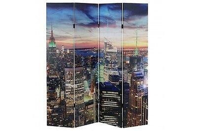 LED-Paravent New York 180x160cm 84 LED Trennwand Raumteiler Paravant Licht neu
