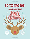 3D Tic Tac Toe: Large Game Book - play over 400 games of 3d tic tac toe - Christmas Cover