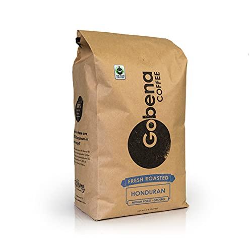5lb Fair Trade Certified Honduran Medium Roast Ground, 100% Arabica Specialty Coffee, 80 ounces, 5 pounds, Bulk Coffee
