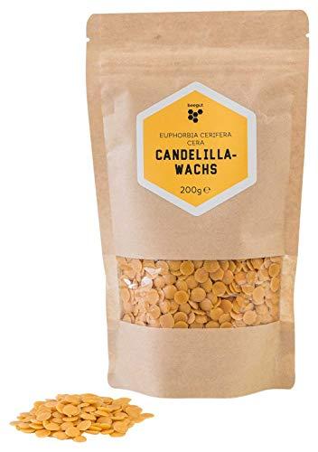 beegut Candelillawachs (euphorbia cerifera cera), veganes pflanzliches Wachs, Alternative zu Bienenwachs, für eigene Naturkosmetik, 200g