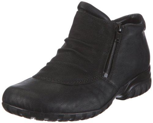 Rieker Damen L4691 Kurzschaft Stiefel, Schwarz (schwarz/schwarz / 01), 41 EU