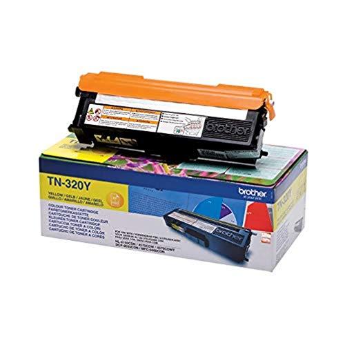 Brother Original Tonerkassette TN-320Y gelb (für Brother HL-4140CN, HL-4570CDW, HL-4150CDN, HL-4570CDWT, DCP-9055CDN, DCP-9270CDN, MFC-9460CDN, MFC-9970CDW, MFC-9465CDN)