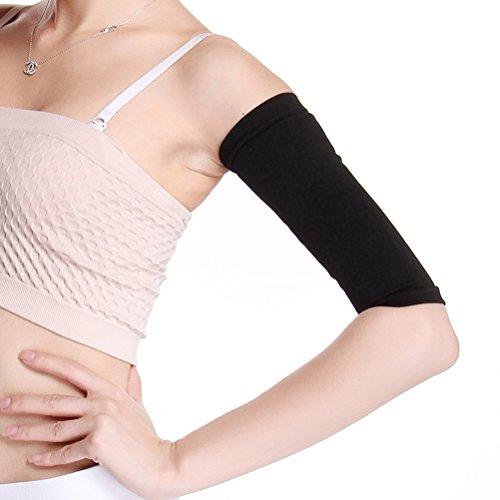 ULTNICE Damen Arm Former Elastische Oberarm Shaper Sleeve für Sport Fitness Anti-Cellulite (Schwarz)