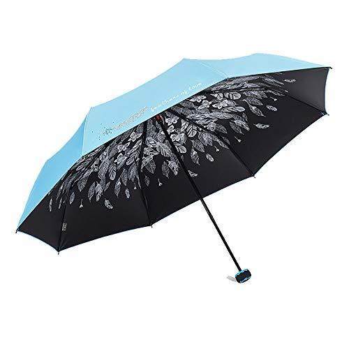 TOSBTD compacte opvouwbare paraplu | Sunblock en UV-bescherming | Enkele overkapping | Prachtige afwerking | Eenvoudig te dragen | Dames & Meisjes