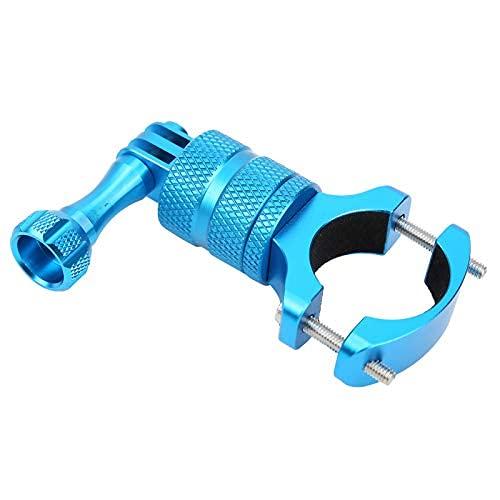 Acción Cámara Soporte Aleación de aluminio Rotación de 360 grados para Motocycle(Azul)