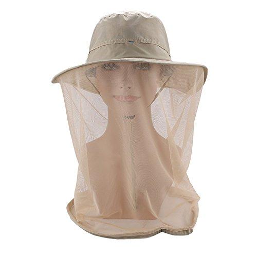 TININNA Filet Anti-moustique Chapeau avec Head Veil de Protection Mesh Face Extérieure Apiculteur Apiculture Camouflage Chapeaux pour la tête Jaune