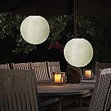 Farolillos solares para exteriores, farolillo colgante de jard¨ªn, farol LED solar, resistente al agua 30 cm, para jard¨ªn, terraza, patio, casa, ¨¢rbol de Navidad, etc.