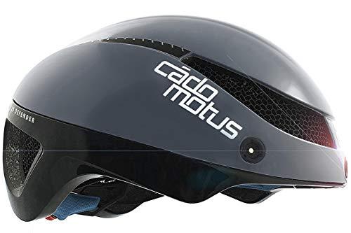 CADOMOTUS Omega Aero Omega Aero Omega Casco con visiera opzionale | Casco da ciclismo | Triathlon – Grigio (Grigio, S)