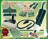 SET COMPLETO: ASPIRAPOLVERE FOLLETTO KOBOLD VK122 USATO + BATTITAPPETO + PICCHIO