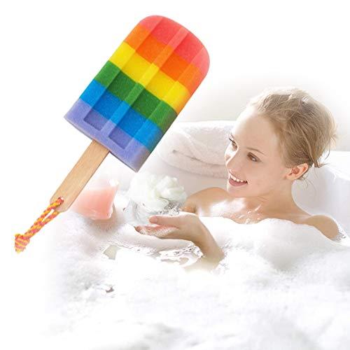 Enwepoeo Esponja de baño Cepillado Esponja, Bola de Ducha Ducha de Malla, sólida y Robusta, puf de Malla para Limpiar el Cuerpo Suave, Frotar,F