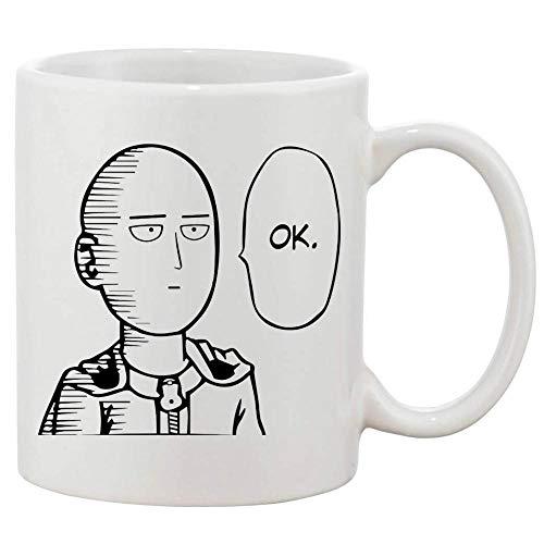 One Punch Man Ok Keramik-Kaffeetasse Weiß 11 Unzen-Becher Geschenk Tee Milchbecher Tassen