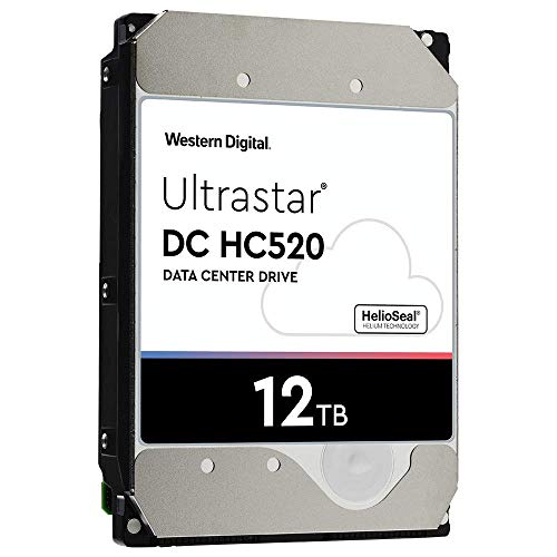 HGST - WD Ultrastar DC HC520 HDD | HUH721212ALE600 | 12TB 7.2K SATA 6Gb/s 256MB Cache 3.5-Inch | ISE 512e | 0F30144 | Helium Data Center Internal Hard Disk Drive