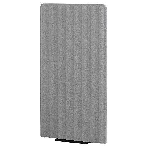 Paravent EILIF, freistehend, 80x150 cm, grau/schwarz