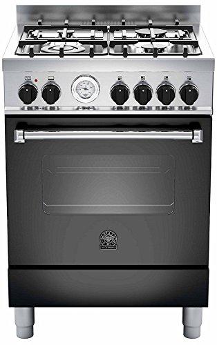 Almacenamiento Mania am64C61bne Cocina de gas con Elek trobac Minihorno, Negro, 60cm, eficiencia energética clase A
