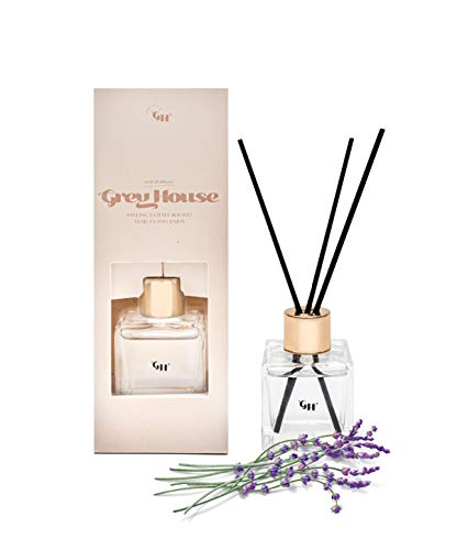 GREY HOUSE Feeling Boujee Reed Diffuser Set Lavender Fragrance Oil Reed Diffuser for Home, Bedroom, Bathroom, or Office Use for Stress Release Scent Diffuser