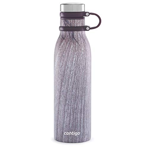 Contigo 2061143 Couture THERMALOCK Vacuum-Insulated Stainless Steel Water Bottle, 20oz, Blonde Wood