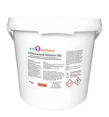 well2wellness Aktivsauerstoff Tabletten 20g / Sauerstofftabletten/O²-Tabletten 20g chlorfrei - 5,0 kg