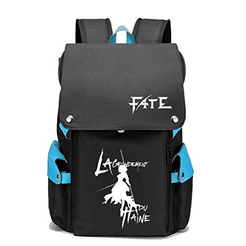 WANHONGYUE Fate Zero/Stay Night/Grand Order Anime Cosplay Backpack Rucksack Mochilas Escolar Bolsa de Escuela Mochila para Portátil 15.6 Pulgadas Azul / 1