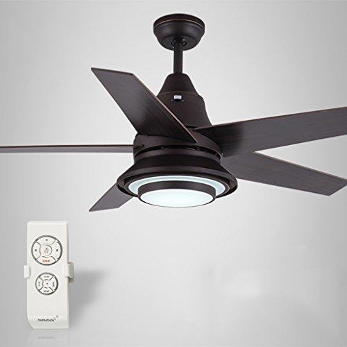 Plafondventilatoren met verlichting, plafondventilator, verlichte industriële fan-lamp, slaapkamer, met led-motoren, 52 inch