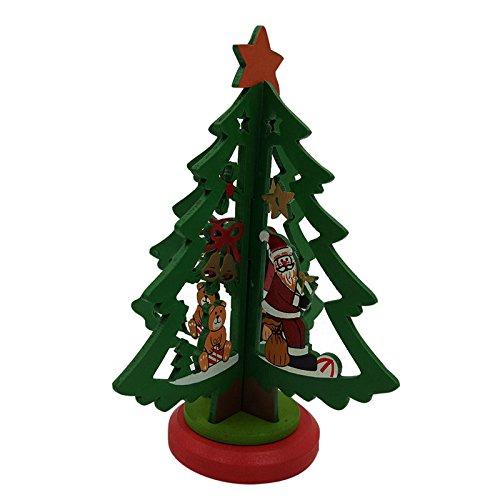 lulalula Mini support de sapin de Noël en bois pour décoration de sapin de Noël à faire soi-même, cadeaux de vacances en bois pour hôtel, bar, fête