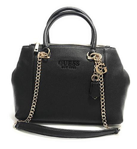 Guess Borsa donna shopper modello Holly S in ecopelle nero 3 comp. BS20GU108