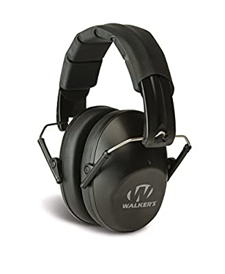 Walker's Game Ear Low Profile Folding Muff, Black
