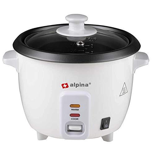 Alpina - Cuociriso con funzione di mantenimento del calore, 0,6 l, in alluminio, 300 Watt