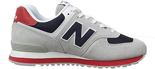New Balance Herren 574v2 Sneaker, Rain Cloud/Team Red, 40 EU