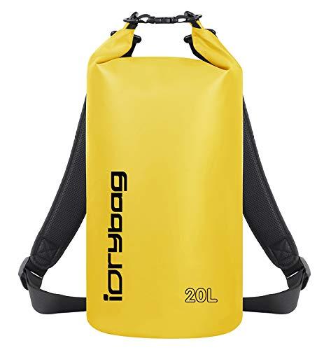 IDRYBAG Dry Bag Waterproof Floating, PVC Waterproof Bag Roll Top, 2L Dry Bag Kayak Storage for Kayaking, Boating, Rafting, Swimming, Hiking, Camping, Travel, Beach