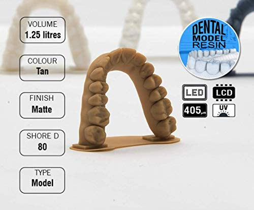 Monocure 3D Rapid Dental Model Tan (marrón) 1,25 L: Amazon.es ...