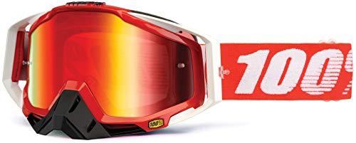 100% RACECRAFT Brille Fire - Spiegel Linse, Rot , Größe One Size