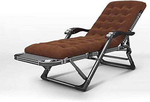 Sonnenliege Sun Lounger Premium Hochleistungs-Textoline Zero Gravity Chair Liegestuhl Außenklappbarer Liegestuhl mit Kopfkissen-Kissenpolster - Hergestellt aus Rahmen aus Eisenlegierung (Patio (Farbe