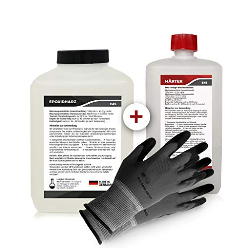 Longfair Chemicals - Resina Epoxi con Endurecedor + Guantes