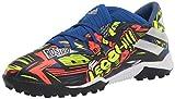 adidas Boys' Nemeziz Messi 19.4 Indoor Soccer Shoe, Royal Blue/Silver/Yellow, 10.5K