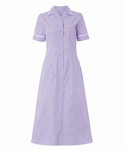 Alexandra al-st312li-88r Streifen Kleid, Regular, weiß Paspelierung/Trim, 88cm Brust (Größe 10), lila/weiß