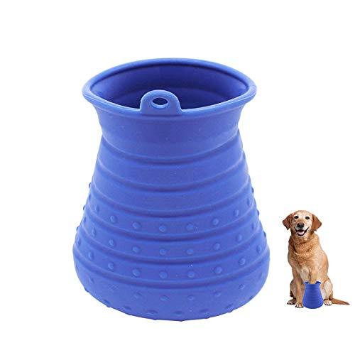 Limpiador de Huellas para Perros con toalla, Perros Lavadora Portatil, Pata de perro limpia, Cepillo de baño Clean Paws con función de masaje para perros medianos grandes Dog Paw Cleaner (Púrpura)