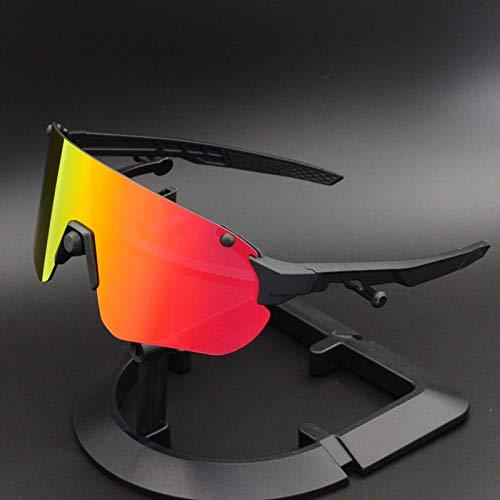 jzhi Gafas de Sol Gafas de Ciclismo Gafas Deportivas de conducción Gafas de Sol UV400 Bicicleta Ciclismo Gafas de Sol polarizadas para Hombres Gafas Retro Gafas de Espejo