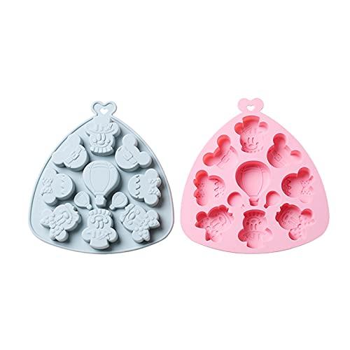 Moldes de Pastel de Silicona de 11 cuadrículas, moldes epoxi Multiusos de Bricolaje para Alimentos complementarios, Dulces, postres Helados, heladería de los moldes de Silicona