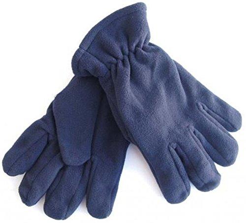 A. Blöchel Men's Plain Gloves Blue Blue