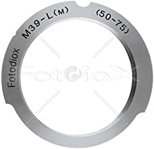 Fotodiox Lens Mount Adapter, M39 (39mm x1, Thread Leica Screw Mount) Lens to Leica M Adapter with 50mm/75mm Frame Line, fits Leica M-Monochrome, M8.2, M9, M9-P, M10 and Ricoh GXR Mount A12