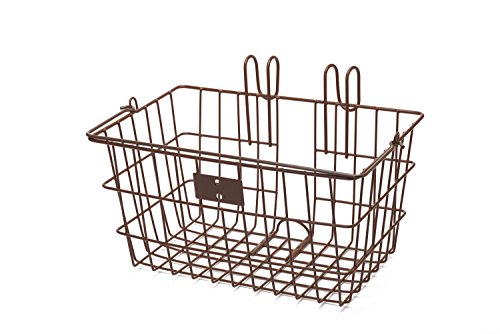 Retrospec Detachable Steel Apollo-Lite Lift-Off Front Bike Basket with Handles, Brown
